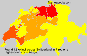 Familiennamen Akinci - Switzerland