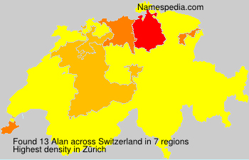 Surname Alan in Switzerland