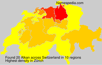Familiennamen Alkan - Switzerland