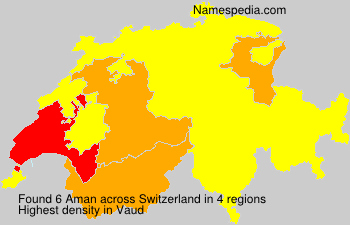 Surname Aman in Switzerland