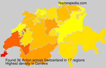 Surname Anton in Switzerland