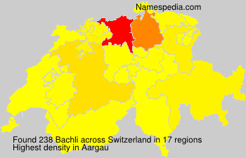 Surname Bachli in Switzerland
