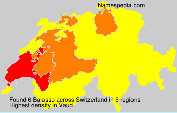 Surname Balasso in Switzerland