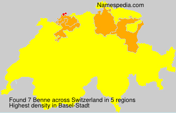 Surname Benne in Switzerland
