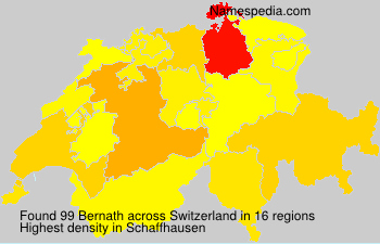 Surname Bernath in Switzerland