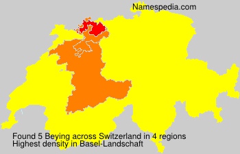 Surname Beying in Switzerland