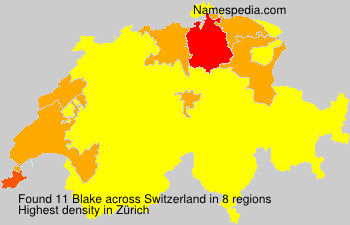 Surname Blake in Switzerland