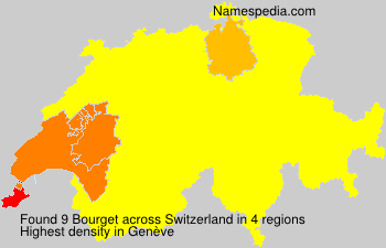 Surname Bourget in Switzerland