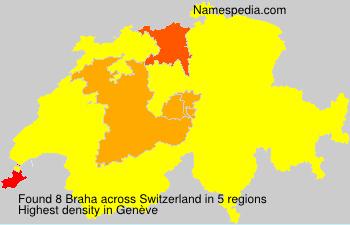 Surname Braha in Switzerland