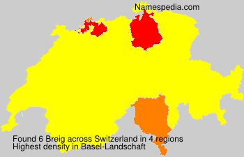 Surname Breig in Switzerland