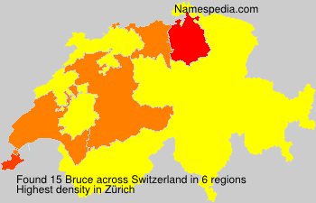 Surname Bruce in Switzerland