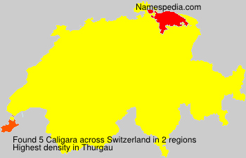 Surname Caligara in Switzerland