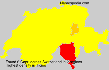Surname Capri in Switzerland