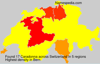 Surname Caradonna in Switzerland