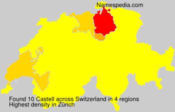 Familiennamen Castell - Switzerland