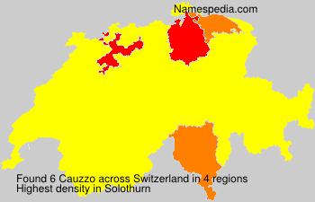Surname Cauzzo in Switzerland