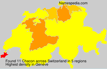 Surname Chacon in Switzerland