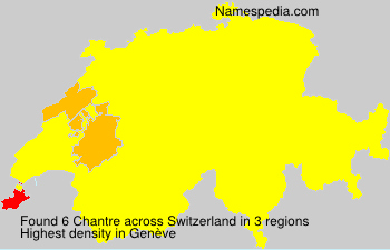 Surname Chantre in Switzerland
