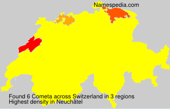 Surname Cometa in Switzerland