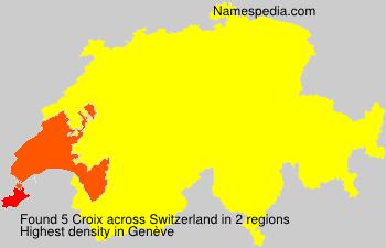 Surname Croix in Switzerland