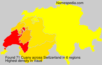 Surname Cuany in Switzerland