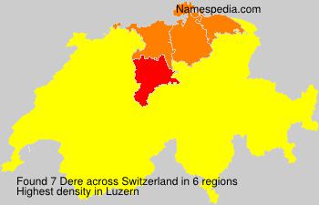 Familiennamen Dere - Switzerland