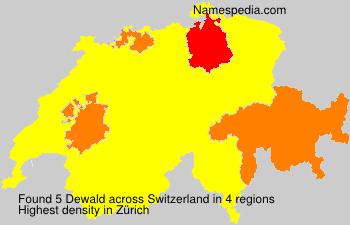 Surname Dewald in Switzerland