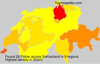 Surname Fisher in Switzerland