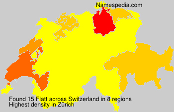 Surname Flatt in Switzerland