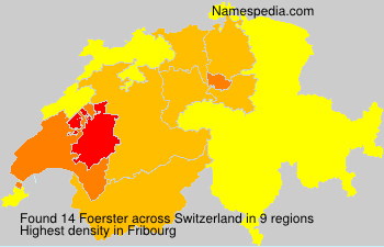 Surname Foerster in Switzerland