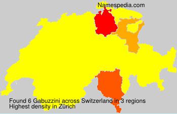 Familiennamen Gabuzzini - Switzerland