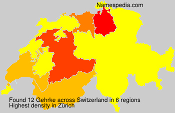 Surname Gehrke in Switzerland