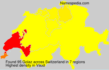 Surname Golaz in Switzerland