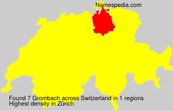 Surname Grombach in Switzerland