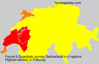 Surname Guardado in Switzerland