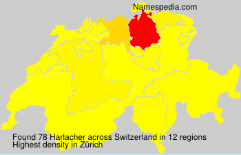 Surname Harlacher in Switzerland