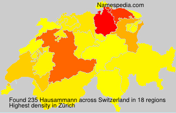 Surname Hausammann in Switzerland