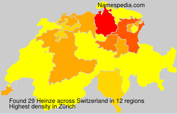 Surname Heinze in Switzerland