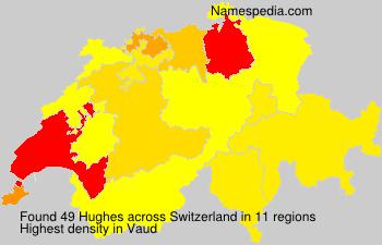 Familiennamen Hughes - Switzerland