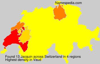 Surname Jacquin in Switzerland