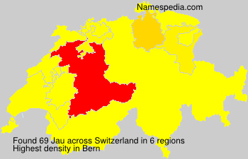Surname Jau in Switzerland