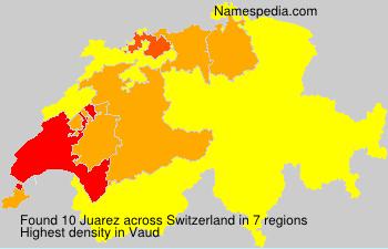 Familiennamen Juarez - Switzerland
