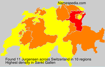 Surname Jurgensen in Switzerland