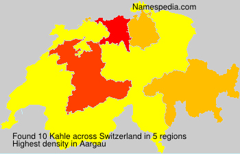 Surname Kahle in Switzerland