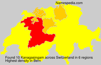 Surname Kanagasingam in Switzerland