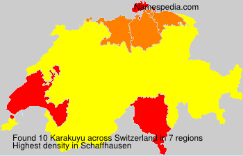 Surname Karakuyu in Switzerland
