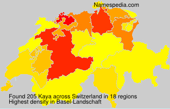 Surname Kaya in Switzerland