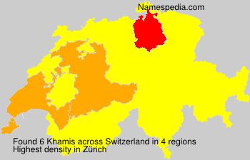 Surname Khamis in Switzerland