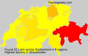 Surname Laim in Switzerland
