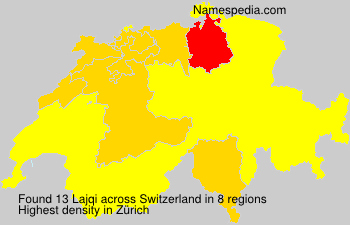 Surname Lajqi in Switzerland